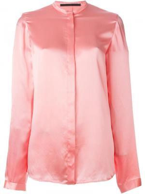 Рубашка без воротника Haider Ackermann. Цвет: розовый и фиолетовый