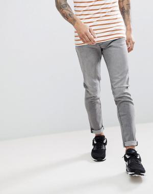 LDN DNM Серые эластичные джинсы скинни. Цвет: серый