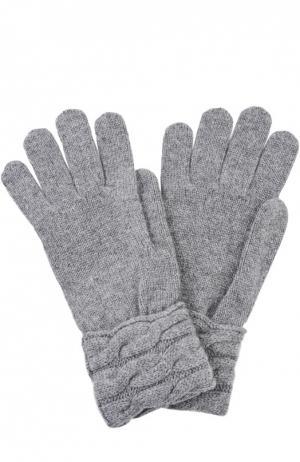 Вязаные перчатки из кашемира Kashja` Cashmere. Цвет: серый