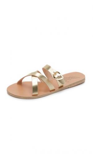 Сандалии без задника Axia Ancient Greek Sandals. Цвет: золотой