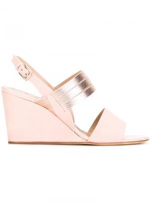 Sling-back wedge sandals Fratelli Rossetti. Цвет: розовый и фиолетовый
