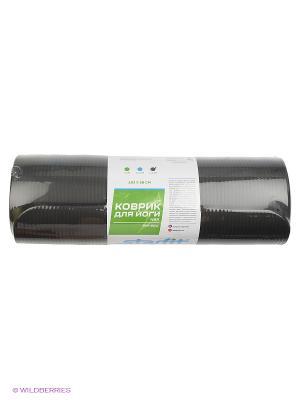 Коврик для йоги STARFIT FM-301 NBR 183x58x1,5 см, черный 1/6. Цвет: черный