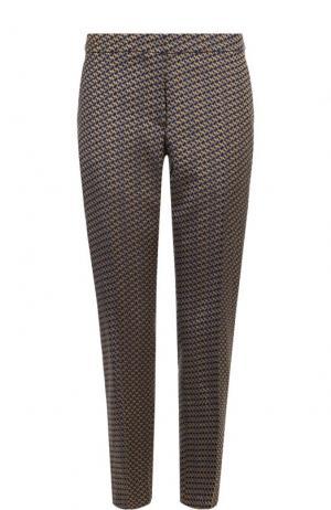 Укороченные брюки прямого кроя со стрелками Dries Van Noten. Цвет: разноцветный