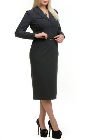 Платье Медлин LESYA. Цвет: серый