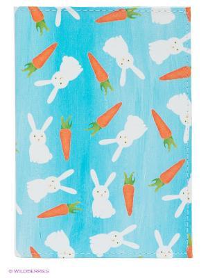 Обложка для паспорта Mitya Veselkov. Цвет: голубой, оранжевый, белый