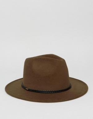 7X Шляпа-федора. Цвет: зеленый