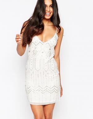 Walter Baker Декорированное платье Gwen. Цвет: белый