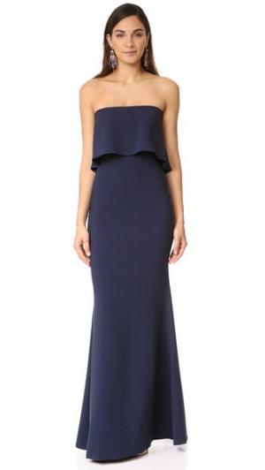 Вечернее платье Driggs LIKELY. Цвет: темно-синий
