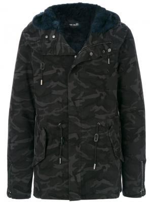 Camouflage coat Yves Salomon Homme. Цвет: зелёный