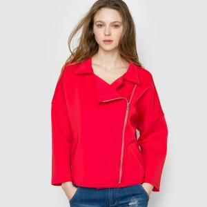 Пальто короткое SUNCOO. Цвет: красный,серый меланж