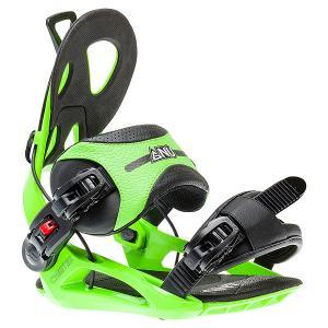 Крепления для сноуборда  Cheeter Green/Black GNU. Цвет: черный,зеленый