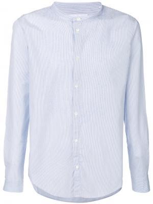 Рубашка с воротником мандарин на пуговицах Dondup. Цвет: синий