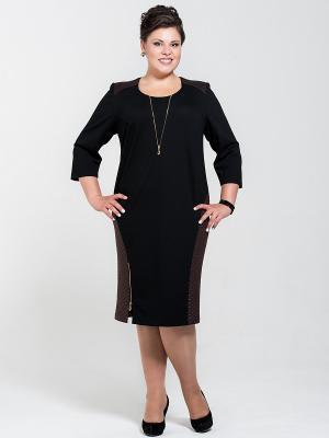 Платье Silver-String. Цвет: черный, коричневый