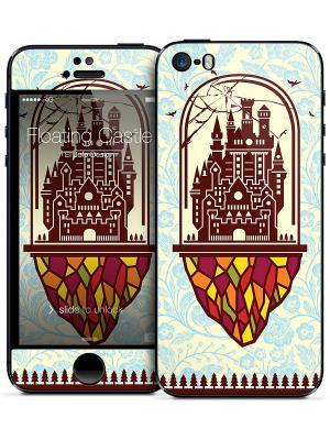 Наклейка для iPhone 5/5S Floating Castle - El Jefe Design Gelaskins. Цвет: молочный, коричневый, голубой