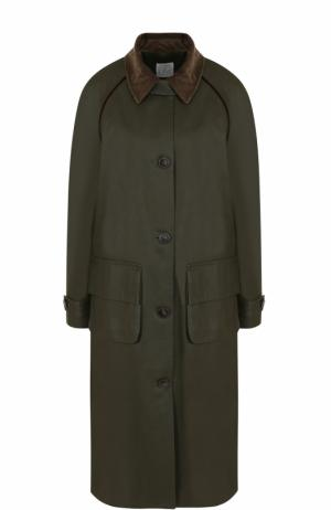 Хлопковое пальто свободного кроя Stella Jean. Цвет: хаки