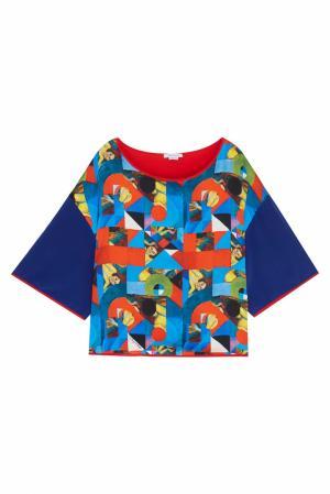 Шелковая блузка Natalia Valevskaya. Цвет: multicolor