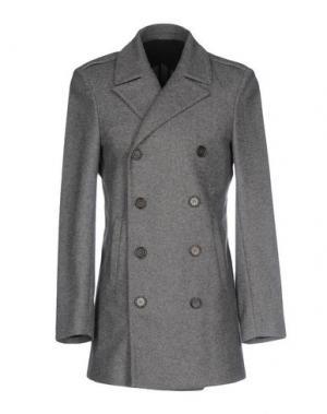 Пальто AGLINI. Цвет: серый