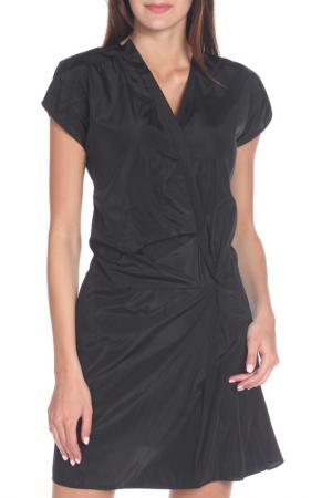 Полуприлегающее платье с V-образным вырезом Marni. Цвет: черный