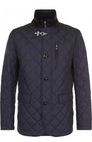 Стеганая куртка на пуговицах с подстежкой Windsor. Цвет: темно-синий