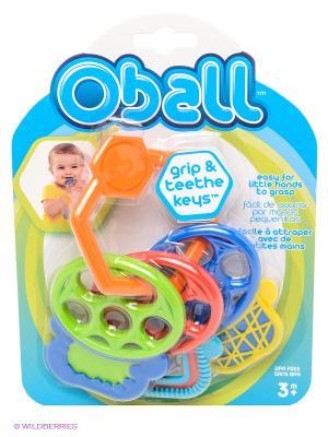 Прорезыватель Разноцветные ключики Oball. Цвет: оранжевый
