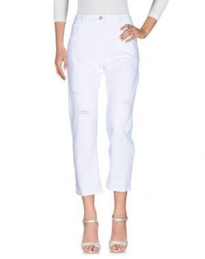 Джинсовые брюки BOUTIQUE de la FEMME. Цвет: белый
