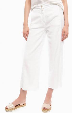 Белые брюки кюлоты прямого кроя River Woods. Цвет: белый