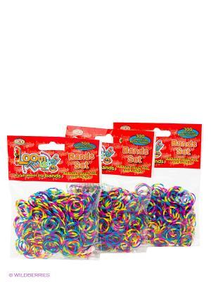 Набор для плетения браслетов из резинок Loom Twister. Цвет: голубой, фиолетовый, желтый, черный, зеленый, салатовый, красный, розовый