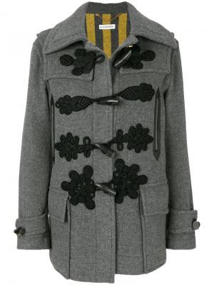 Пальто с вышитыми деталями и продолговатыми пуговицами Altuzarra. Цвет: серый