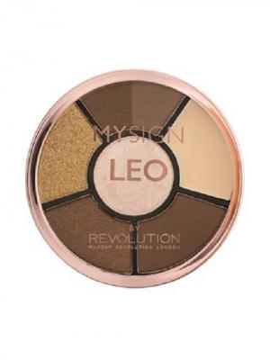 Палетка для макияжа глаз Complete Eye Base Leo MakeUp Revolution. Цвет: кремовый, коричневый