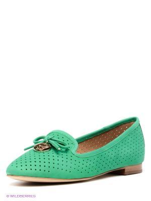 Туфли GERZEDO. Цвет: зеленый