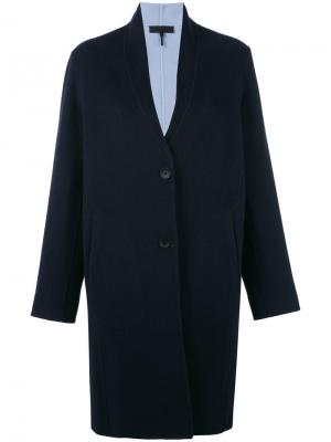 Однобортное пальто Rag & Bone. Цвет: синий