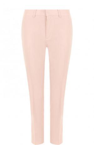 Шерстяные укороченные брюки со стрелками Ralph Lauren. Цвет: розовый