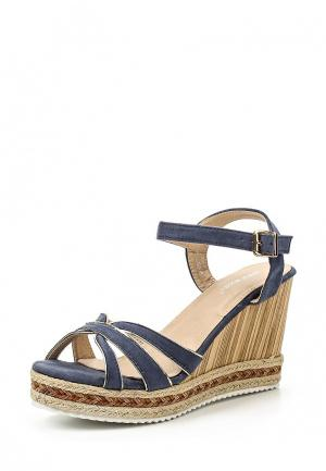 Босоножки Ideal Shoes. Цвет: синий