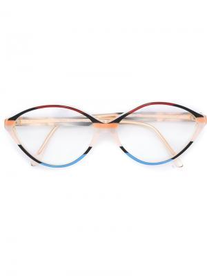 Трехцветные очки Balenciaga Vintage. Цвет: многоцветный