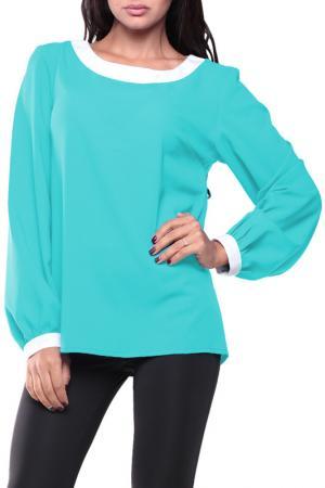 Блуза REBECCA TATTI. Цвет: ментоловый с белым