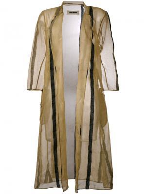 Пальто Chiamaka Uma Wang. Цвет: телесный