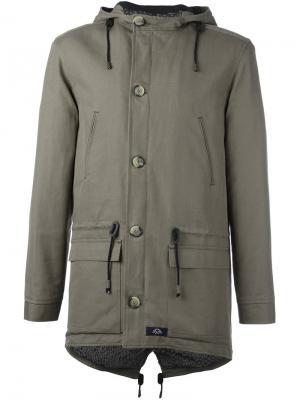 Куртка с капюшоном Bleu De Paname. Цвет: зелёный