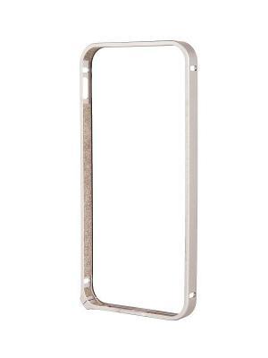 Чехол Alum Bumper и защитная пленка для Apple iPhone 5/5S Deppa. Цвет: серебристый
