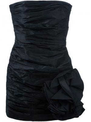 Жатое платье без бретелек Faith Connexion. Цвет: чёрный