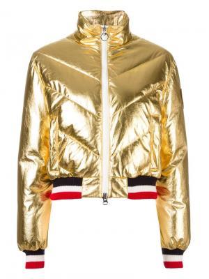 Дутая куртка с эффектом металлик Rossignol. Цвет: металлический