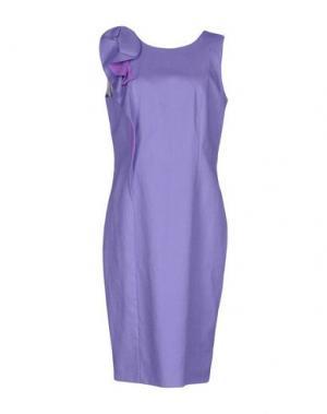 Короткое платье FABRIZIO LENZI. Цвет: фиолетовый