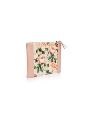 Косметичка Дикие розы Eshemoda. Цвет: бледно-розовый