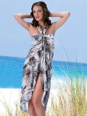 Туника-юбка AMAREA. Цвет: серый,бежевый