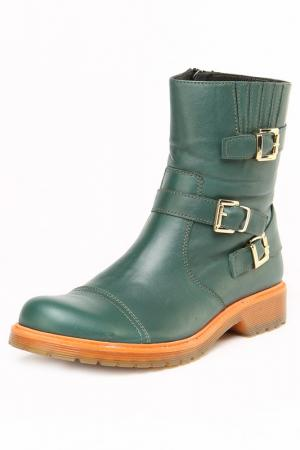 Ботинки OSSO. Цвет: зеленый
