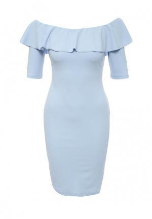 Платье Rinascimento. Цвет: голубой