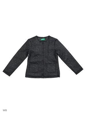 Куртка United Colors of Benetton. Цвет: черный, серо-коричневый