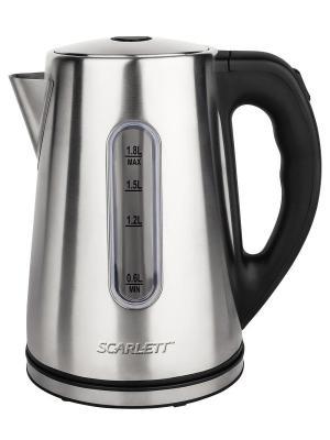 Чайник Scarlett SC-EK21S21 1.8л. 2200Вт серебристый (нержавеющая сталь). Цвет: серебристый