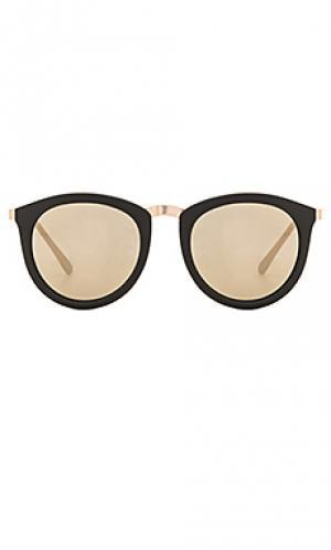 Солнцезащитные очки no smirking Le Specs. Цвет: черный