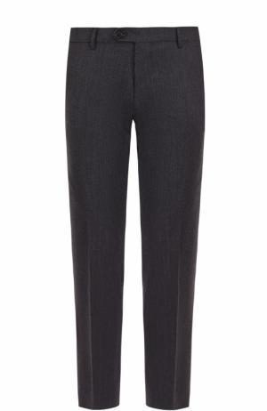 Шерстяные брюки прямого кроя Berwich. Цвет: темно-синий