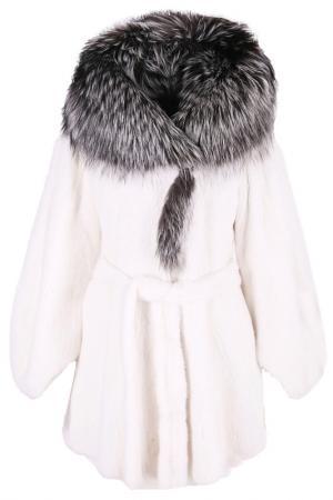 Меховое пальто Bellini. Цвет: белый